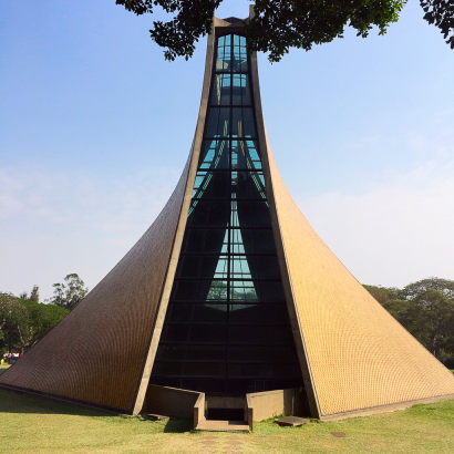 Luce Memorial Chapel, Tunghai University, Taiwan. Photo by Mark Pegrum, 2014. May be reused under CC BY 3.0 licence.