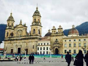Plaza Bolívar, Bogotá, Colobmia. Photo by Mark Pegrum, 2015. May be reused under CC BY 3.0 licence.