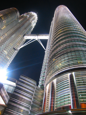 The Twin Towers, KL, Malaysia. Photo by Mark Pegrum, 2015. May be reused under CC BY 3.0 licence.