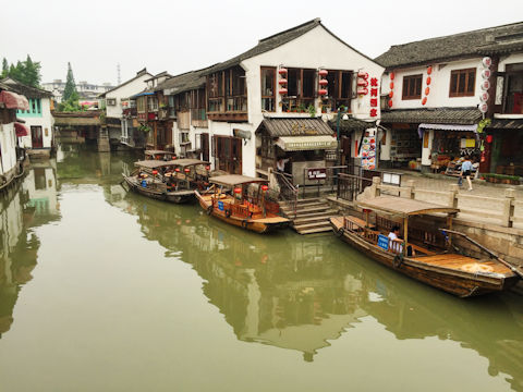 Zhujiajiao Old Town (朱家角), Shanghai, China. Photo by Mark Pegrum, 2016. May be reused under CC BY 3.0 licence.